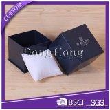 Caixa de empacotamento do relógio de varejo de papel rígido elegante por atacado da forma