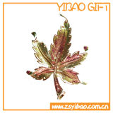 Custom Logo Antique Brass Plated Lapel Pin, Pin Badge, Leaf Pin Gift (YB-HD-103)