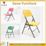 Tipo plegable material silla plástica de la resina en blanco