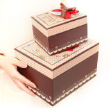 Doos de van uitstekende kwaliteit van de Gift van het Festival van het Karton met Vlinderdas