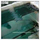 glace Tempered durcie par 15mm avec le bord Polished plat
