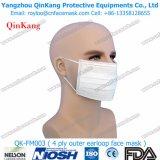 Oído-Bucle disponible mascarilla del algodón de 3 capas Qk-FM0003