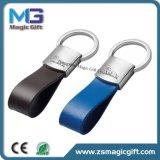 Trousseau de clés promotionnel de cuir en métal de marque de véhicule de cadeau de ventes de marchand chaud d'automobile