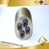 Anchorage pretensada metal (ancla) y cuña para el hilo de acero