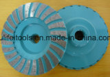 金属セグメントの鋼鉄ベースのための研摩の粉砕のコップの車輪