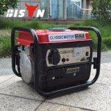 Gasolina barato portátil silenciosa Certificated Ce 12V do gerador da C.C. dos geradores do fio de cobre do agregado familiar do bisonte (China) BS950b 650W mini