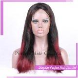 Peruca vermelha extremamente longa humana do cabelo