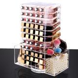 De transparante AcrylDoos van de Opslag van de Lippenstift van 360 Graad Roterende Super Grote
