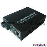 Conversor 10/100m 1X9 Bidi dos media do Wdm 1310/1550 de Sc da manutenção programada 60km