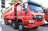 Camion à benne basculante d'exploitation de Sinotruk HOWO 8x4 371HP/camion-