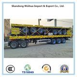 貨物交通機関のための3つの車軸が付いている半60t側面のトレーラー