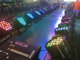 54PCS 3W RGBW etapa del disco LED PAR Can Luz