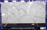 Le blanc conçu neuf de matériau de construction colore la pierre de quartz de Chine