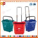 Les achats en plastique de roulement de supermarché roulent le panier par Factory (Zhb82)