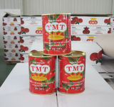 2016 pasta de tomate enlatada G asséptica Brix dos tomates 400 da colheita nova 28-30% da ruptura fria