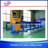 Máquina de entalho de aço da estaca de flama do plasma do CNC da câmara de ar da tubulação de alumínio