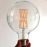 La iluminación larga G125 del filamento LED del bulbo global borra la lámpara de amortiguación de cristal de la aprobación del Ce