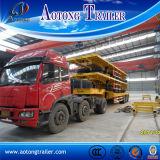 판매를 위한 반 3개의 차축 거위 목 모양의 관 평상형 트레일러 트럭 트레일러