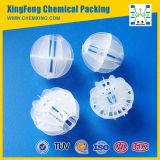 Embalaje plástico de la torre de la bola hueco polihédrica plástica