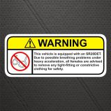 Impresión personalizada UV y resistente vinilo PVC etiqueta engomada del coche