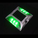 Goujon solaire de route d'éclairage LED de réflecteur blanc de plot réflectorisé