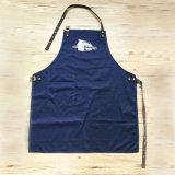 Katoenen Qaulity van de douane Hoge Wasbare Blauwe Schort voor de Levering voor doorverkoop van de Chef-kok