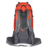 Camper s'élevant de sport en plein air de montagne de course augmentant le sac de sac à dos