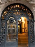 호화스러운 단철 장식적인 등록 석쇠 문 디자인