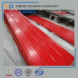 Feuille ondulée de toiture de PPGI avec ISO9001