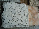 Hotsale White Carrara Marble Mosaic Pattern per Wall Decoration