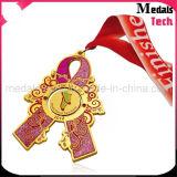 Выдвиженческим Multi заполненные цветом медали изготовленный на заказ яркия блеска металла закручивая