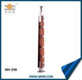 SH210木製カラーによってインポートされる木製の物質的な手すり