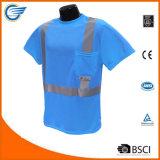 Camiseta reflexiva de la humedad de la clase 2 de la seguridad Máxima-Dri de Wicking
