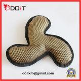 Brinquedos costurados dobro do cão da lona do animal de estimação de Reinfored