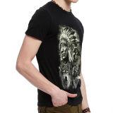熱い販売の黒3Dの印刷のTシャツ