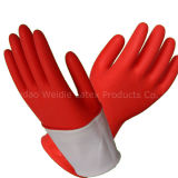 Luvas resistentes de borracha industriais da segurança do trabalho, luva do látex