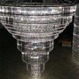 Großer LED Kristall-Mehrebenenleuchter der Qualitäts-Hotel-Vorhalle-