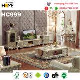 Base de madera antigua del cuero genuino de los muebles para el hogar (HC9025)