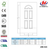 MDF HDFの商業浴室は薄板にした木によってVennerの形成されたドア(JHK-015)を