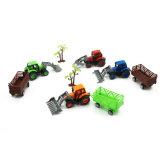 Puxar o brinquedo do carro do jogo dos tratores de exploração agrícola ajustado para crianças