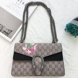 卸し売りEmg5177のための流行の100%実質の革Handbags Classical New Designerによって女性印刷される花の女性のショルダー・バッグ