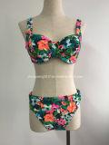 Swimwear africano del vestito di bagno della stampa del bikini di stampa dell'India del ricamo