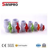 Vente en gros faite dans le robinet à tournant sphérique de contrat de soupape de PVC de qualité de robinet à tournant sphérique de PVC de la Chine
