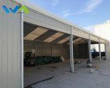 tienda de aluminio del almacenaje del almacén de la estructura del 10X30m con la puerta de acero de la pared y del obturador del metal