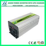 Inversor del cargador de la UPS de la eficacia alta 2000W con el indicador digital (QW-M2000UPS)