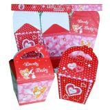 Rectángulo de regalo de empaquetado de papel portable lindo con la maneta en muchas tallas y diseños