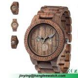 O ébano Multi-Function do OEM presta atenção ao relógio de madeira dos relógios do presente