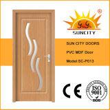 Porta revestida do MDF da porta do PVC das portas internas (SC-P013)