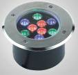 304 acero inoxidable IP67 RGB LED subterráneo / luz inground del LED