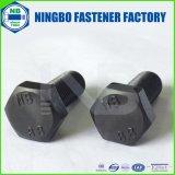 DIN961十六進ボルトM14-1.50X35等級8.8の黒